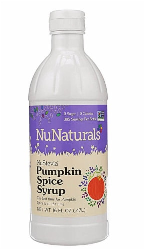 NuNaturals  NuStevia® Syrup   Pumpkin Spice Perspective: front