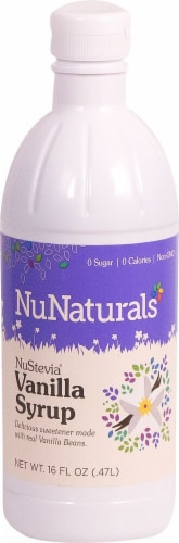 NuNaturals  NuStevia® Vanilla Syrup Perspective: front