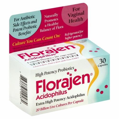 Florajen Acidophilus Capsules Perspective: front