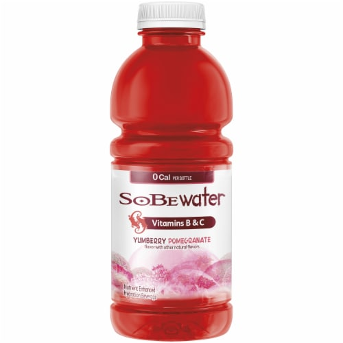 SoBe Water Yumberry Pomegranate Nutrient Enhanced Hydration Beverage Perspective: front