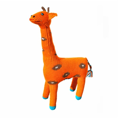 Knit Giraffe  14 in. Toy Perspective: front