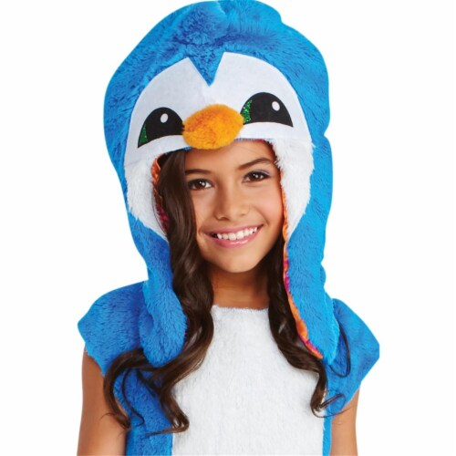 Child Animal Jam Dancing Clever Penguin Hoodie, One Size Perspective: front