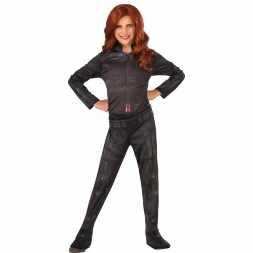 Girls Child Widow Costume, Black, Small & Size 4-6 Perspective: front