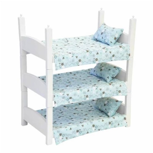 Wooden Stacking Beds, White Perspective: front