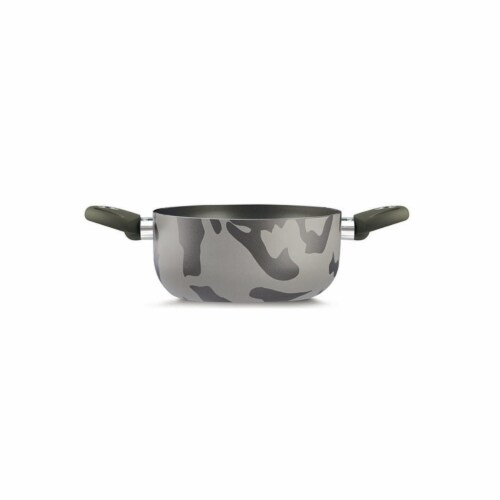 Lancaster Commercial Products  Camouflage Bio-Ceramix Nonstick Sauce Pan - 9.5, 2 Side Handle Perspective: front