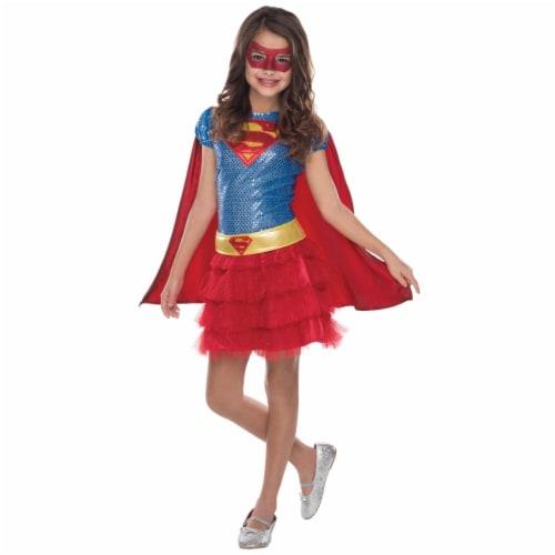 Super-Girl Tutu Dress Child Costume, Medium Perspective: front