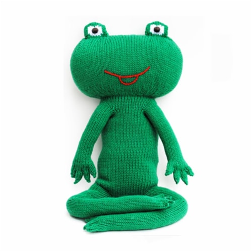 Knit Frog, 15 in. Toy Perspective: front