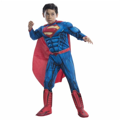 Superman Child Deluxe Costume, Small Perspective: front