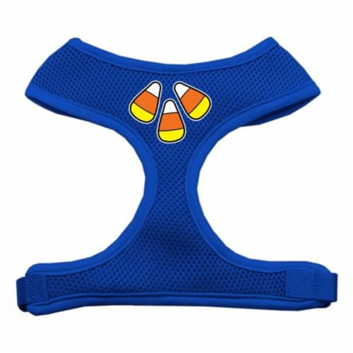 Candy Corn Design Soft Mesh Harnesses Blue Extra Large Perspective: front