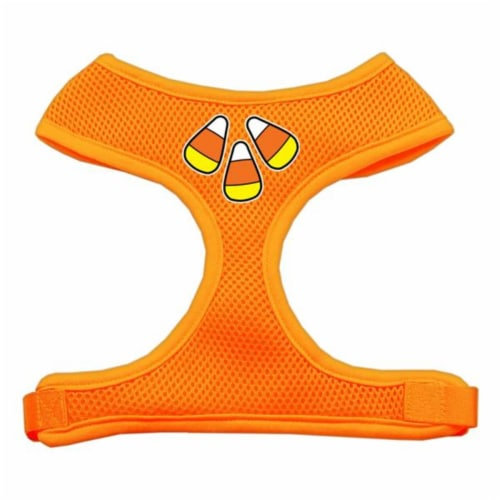 Candy Corn Design Soft Mesh Harnesses Orange Extra Large Perspective: front