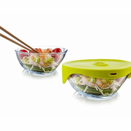 Single Serve Steamer with Green Lid - Gift Box Perspective: front