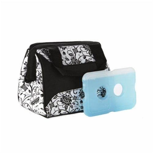 Fit & Fresh Lunch Bagine Bony Floral with Ice Perspective: front