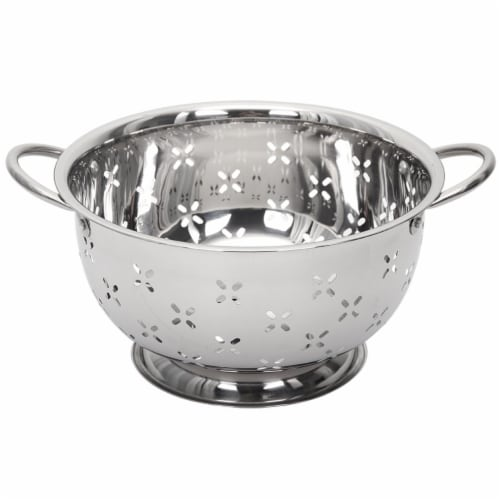 5 qt. Stainless Steel Colander Perspective: front