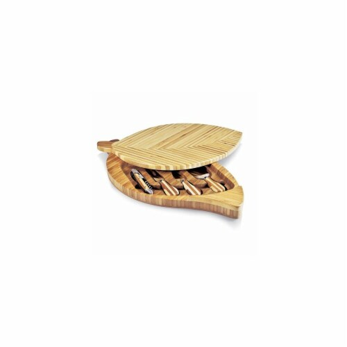 Leaf Cheese Board & Tools Set - Bamboo Perspective: front