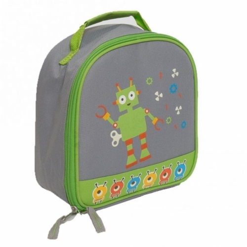 Gray & Green Boy Lunchbox Perspective: front