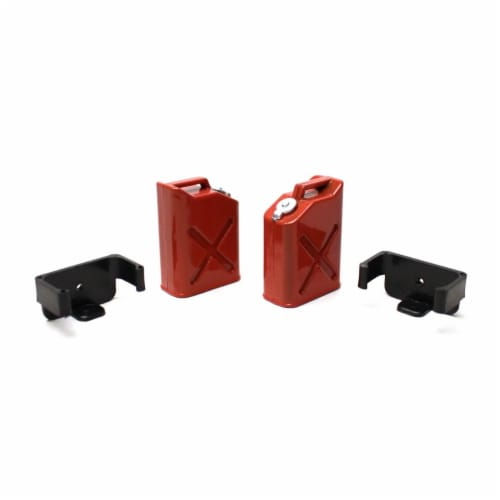 Racers Edge RCE3404 1 by 10 Scaler Plastic Gasoline Jugs, 2 Piece - Red Perspective: front