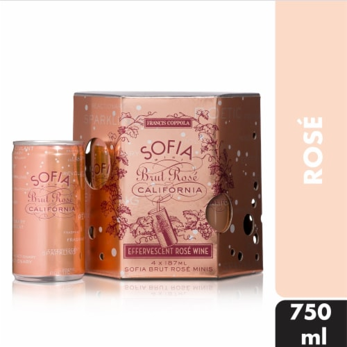 Sofia Mini Brut Rose Sparkling Wine Perspective: front
