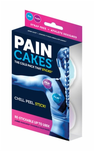 Pain Cakes® Stick and Stay Mini Ice Packs (6 Pack) Perspective: front