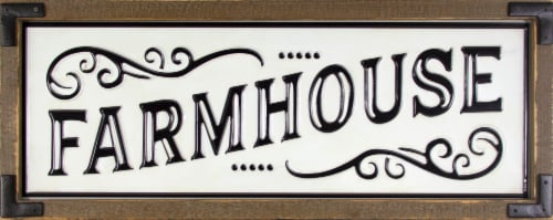 Patton Framed Metal Farmhouse Sign Perspective: front