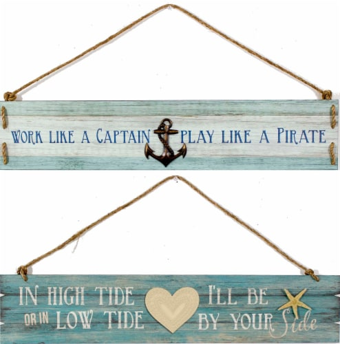 Patton Coastal Hanging Plaques - Assorted Perspective: front
