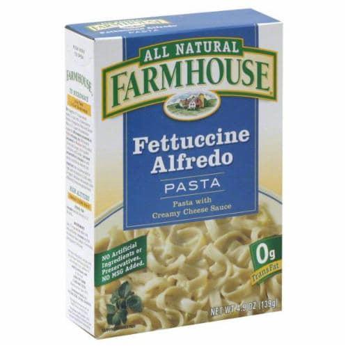 Farmhouse Fettuccine Alfredo Pasta Perspective: front