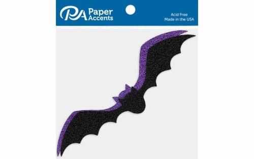 Glitter Shape 8pc Flying Bat Black&Grape Perspective: front