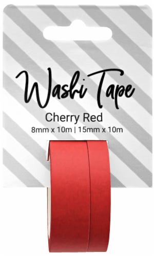 PA Essentials Washi Tape - Cherry Red Perspective: front