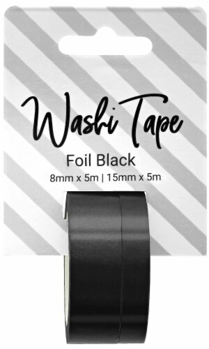 PA Essentials Foil Washi Tape - Black Perspective: front