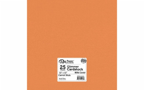 Cdstk Glimmer 12x12 80lb 25pc Pk Carrot Stick Perspective: front