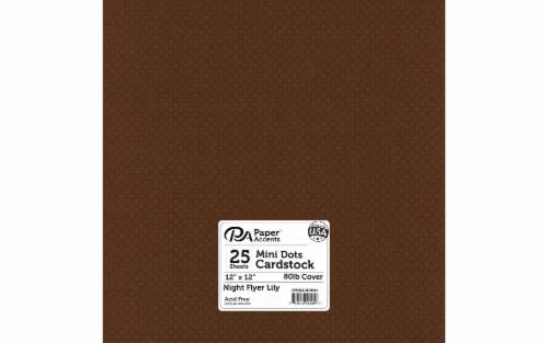 Cdstk Mini Dots 12x12 80lb 25pc Pk Night FlyerLily Perspective: front