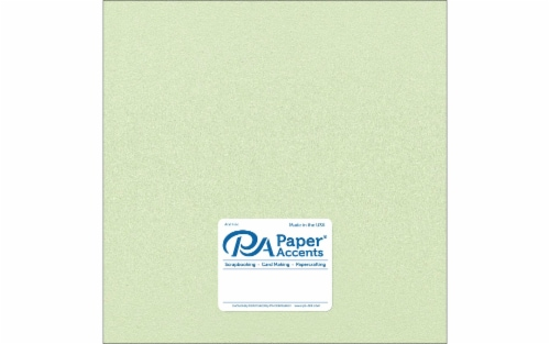 Cdstk Pearlized 12x12 105lb 25pc Pk Honeydew Perspective: front