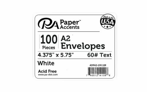 Envelope 4.38x5.75 100pc White Perspective: front