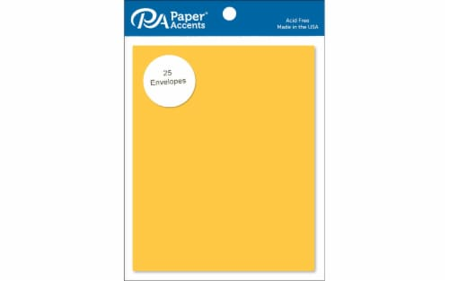 Envelope 4.38x5.75 25pc Canary Yellow Perspective: front