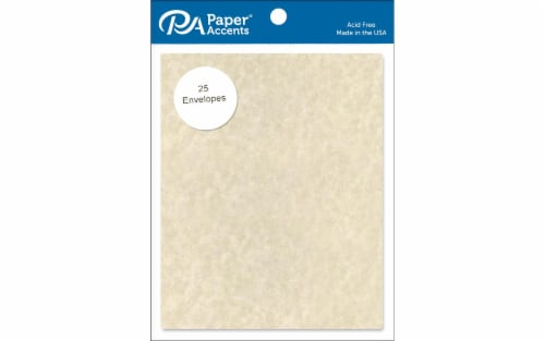 Envelope 4.38x5.75 25pc Parch Natural Perspective: front