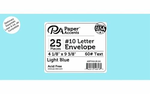 Envelope #10 Letter 25pc Light Blue Perspective: front