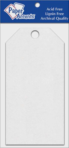 Paper Accents Craft Tag - 25 Pack - White Perspective: front
