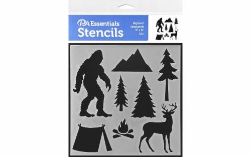 PA Ess Stencil 6x6 Bigfoot/Sasquatch Perspective: front