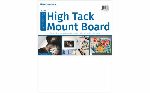 """PA Ess Self-Stick High Tack Mount Board 8x10"""" Perspective: front"""