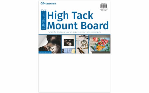 """PA Ess Self-Stick High Tack Mount Board 11x14"""" Perspective: front"""