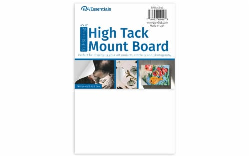 """PA Ess Self-Stick High Tack Mount Board 4x6"""" Perspective: front"""