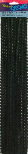 Darice Chenille Stems - 25 Pack - Black Perspective: front
