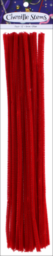 PA Essentials Red Chenille Stem Perspective: front