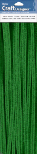 PA Essentials Green Chenille Stem Perspective: front