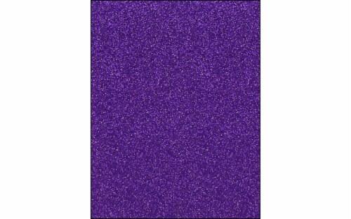 Cdstk Glitter 8.5x11 85lb 15pc Pk Grape Jam UPC Perspective: front