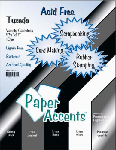 Paper Accents Tuxedo Variety Pack Card Stock - 10 Pack Perspective: front