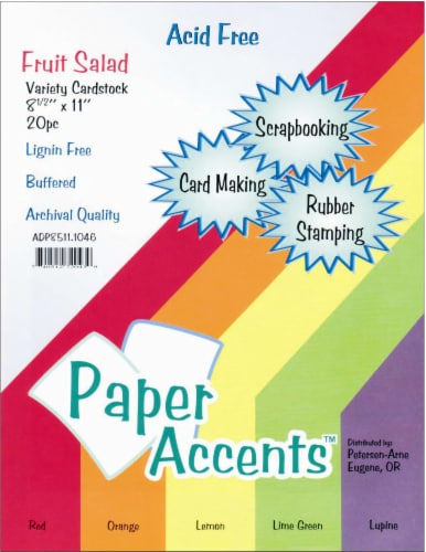 Paper Accents Fruit Salad Variety Pack Card Stock - 20 Pack - Multi-Color Perspective: front