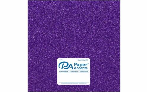 Cdstk Glitter 12x12 85lb Grape Jam 5pc Perspective: front