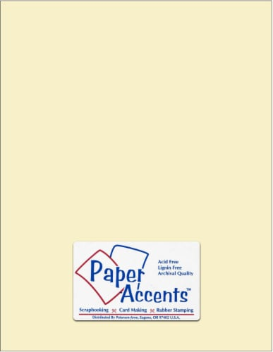 Paper Accents Card Stock - 25 Sheets - Cream Perspective: front