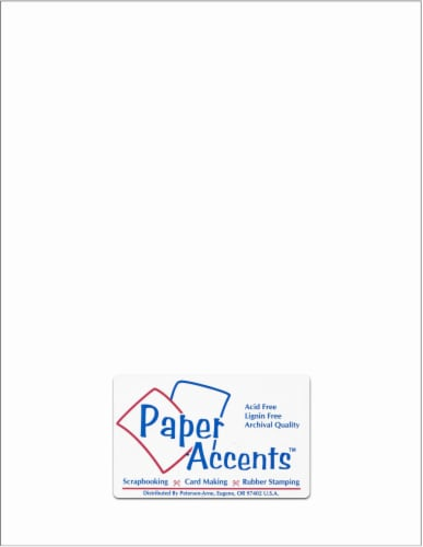 Paper Accents Card Stock - 25 Sheets - White Perspective: front