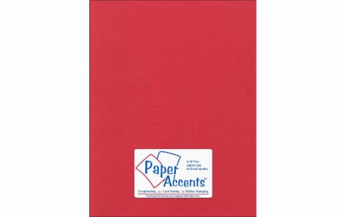 Cdstk Canvas 8.5x11 80lb 25pc Pk Red Cherry Perspective: front